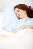 Hospital: Patient Asleep in Hospital Bed Royalty Free Stock Images