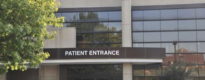 Hospital Patient Entrance Sign Royalty Free Stock Photos