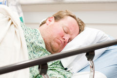 Hospital patient sleeping Royalty Free Stock Image