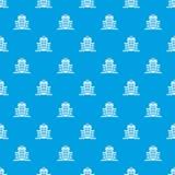 Hospital pattern seamless blue Royalty Free Stock Image