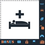 Hospital icon flat vector illustration