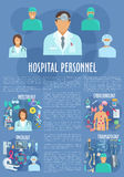 Hospital personnel doctors medical vector poster Stock Photo