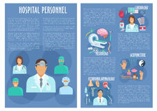 Hospital personnel doctors vector posters Stock Photography