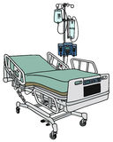 Hospital position bed. Hand drawing of a hospital position bed Stock Photos