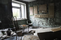 Hospital in Pripyat city abandoned after the Chernobyl disaster Royalty Free Stock Photography