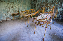 Hospital in Pripyat Stock Images