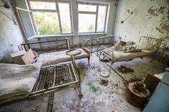 Hospital in Pripyat Stock Photography