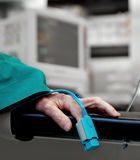 Hospital pulse oxymeter Stock Images