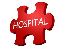 Hospital puzzle. Ready to use for designers and publishers Stock Image