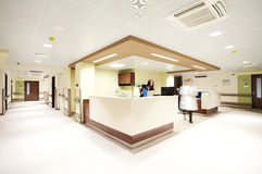 Hospital reception corridor royalty free stock photo