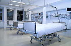 Hospital recovery room. With beds Royalty Free Stock Photo