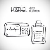 Hospital related icons, Vector illustration Royalty Free Stock Photos