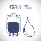 Hospital related icons, Vector illustration Royalty Free Stock Images
