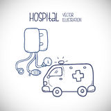 Hospital related icons, Vector illustration Stock Photos