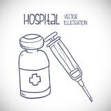 Hospital related icons, Vector illustration Stock Photo