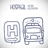 Hospital related icons, Vector illustration Stock Photography