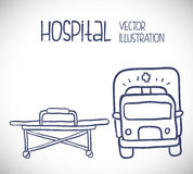 Hospital related icons, Vector illustration Stock Image