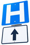 Hospital road sign Royalty Free Stock Photo
