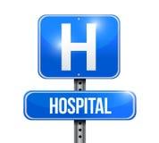 Hospital road sign illustration design Royalty Free Stock Photography