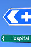 Hospital Road Sign Royalty Free Stock Photos