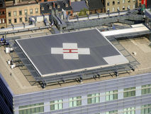 Hospital rooftop helipad. With a large letter H for hospital Royalty Free Stock Photography
