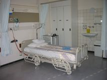 Hospital room. Room in hospital Stock Image