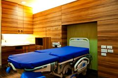 Hospital room. Modern hospital room with available ambient light Stock Photo