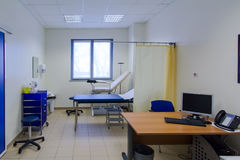 Hospital room. Obgyn consultation room in hospital stock photo