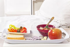 Hospital Room And Food Stock Photography