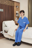 Hospital room bed female Stock Image