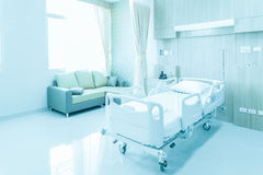 Hospital room with beds and comfortable medical equipped in a mo Royalty Free Stock Photos