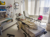 Hospital room and patient Stock Photo