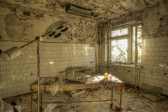 Hospital room in Pripyat (HDR) Royalty Free Stock Photo