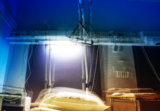 Hospital room in stroboscopic view royalty free stock image