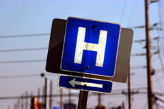 Hospital Route Royalty Free Stock Photos