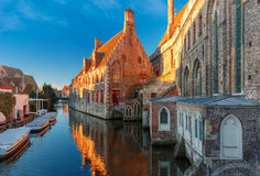 Hospital of Saint John in the morning, Bruges Royalty Free Stock Photo