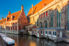 Hospital of Saint John in the morning, Bruges Stock Images