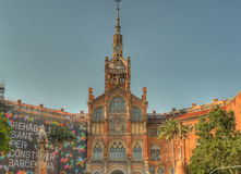 Hospital san pau exterior barcelona. This is hospital san pau exterior barcelona spain royalty free stock images