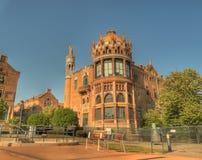 Hospital san Pau que construye Barcelona exterior España Fotos de archivo