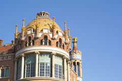 Hospital Sant Pau in Barcelona. Detail of Hospital Sant Pau in Barcelona, Catalonia, Spain Stock Image