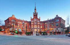 Hospital Sant Pau in Barcelona, Spain.  Royalty Free Stock Photo