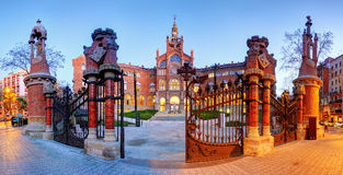 Hospital Sant Pau in Barcelona, Spain.  Royalty Free Stock Image