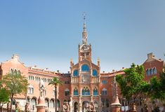 Hospital Sant Pau, Barcelona, Spain. Hospital Sant Pau at summer morning, Barcelona, Spain Royalty Free Stock Photography