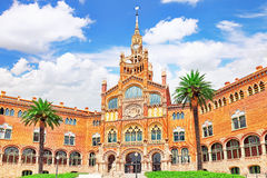 Hospital Sant Pau Recinte Modernista. Stock Image
