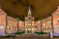 Hospital Sant Pau Recinte Modernista -Barcelona, Spain. Hospital Sant Pau Recinte Modernista in Barcelona, Catalonia, Spain Royalty Free Stock Images