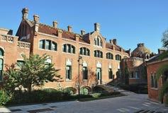 Modernist Site of Sant Pau. Hospital of Santa Creu and Sant Pau Barcelona stock photography
