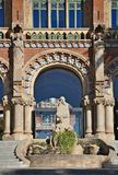 Modernist Site of Sant Pau. Hospital of Santa Creu and Sant Pau Barcelona royalty free stock image