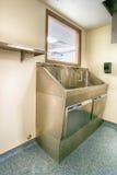 Hospital scrub sink Stock Photography