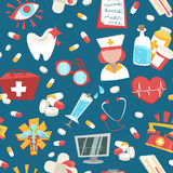 Hospital seamless pattern Stock Images