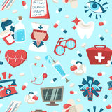 Hospital seamless pattern Royalty Free Stock Photography